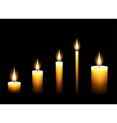 candles dark background vector image