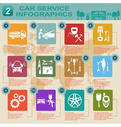 Car service infographics 9 vector image