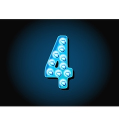 Casino or Broadway Signs style light bulb Digits vector image