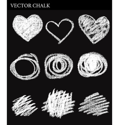 Chalk Circles vector image