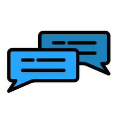 Chat icon in filled line style for any projects vector