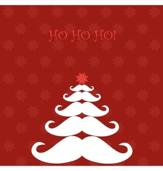 Christmas tree made of santas moustaches vector
