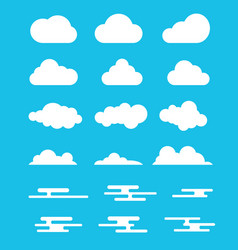 cloud set collection with modern or flat style vector image