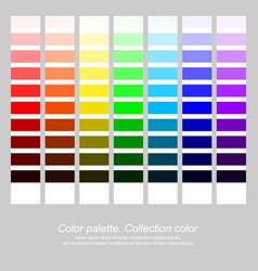 Color palette collection color rainbow color vector