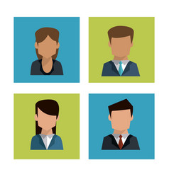 Colorful background of faceless profiles of vector