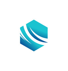 company abstract swoosh logo vector image