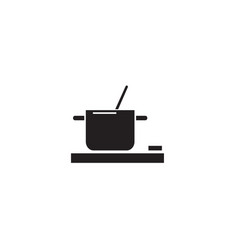 cooking food pot black concept icon vector image
