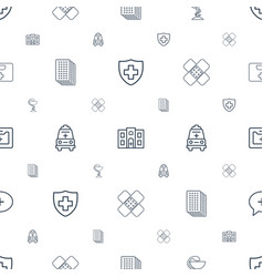 Emergency icons pattern seamless white background vector