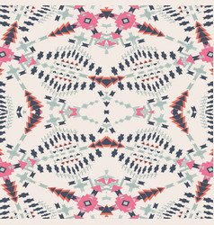 Ethnic seamless pattern aztec geometric vector
