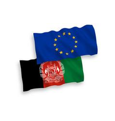 Flags european union and islamic republic vector