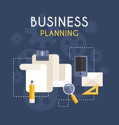 Flat Design Business Concept Business Planning vector