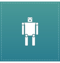 Funny robot flat icon vector