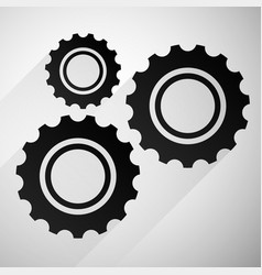 Gears cogwheels icon graphics for maintenance vector