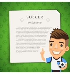 Green Background with Soccer Player vector image