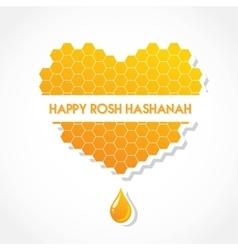 greeting card for Jewish holiday Rosh Hashanah vector image