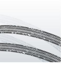Grunge tire print marks background vector