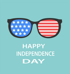 Happy independence day 4th july glasses with vector