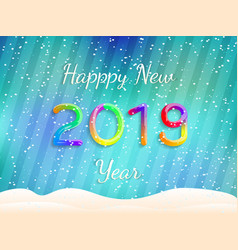 happy new year 2019 abstract festive vector image