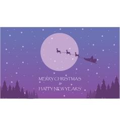 Happy New Years with train Santa on the sky vector