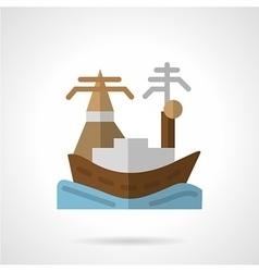 Harbor flat icon vector