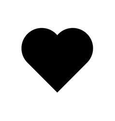 Heart glyph icon vector