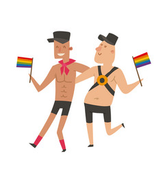 Homosexual gay and lesbian people marriage man vector