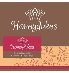 Honeydukes logo business card vector