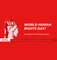 Landscape banner human rights day vector