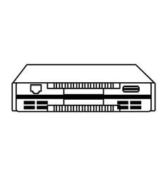 Line icon modem cartoon vector