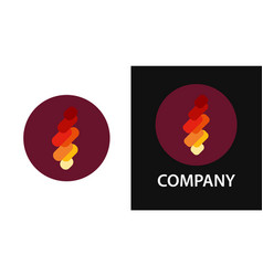 logo with the fire flame in creative flat vector image