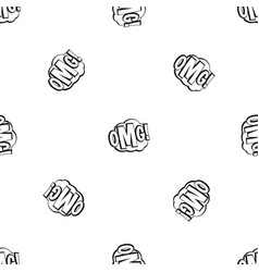 omg comic text speech bubble pattern seamless vector image