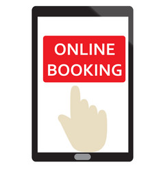 online booking sign on white background flat vector image