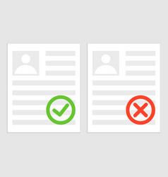 Pack sheets paper with stamp rejected approval vector