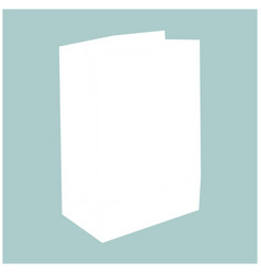 Paper bag the white color icon vector