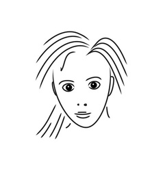 Portrait-Of-Girl-380x400 vector image