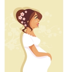 Pregnant girl vector image