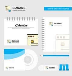 protected website logo calendar template cd cover vector image