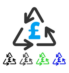 Recycling pound cost flat icon vector