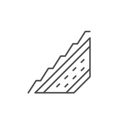 roof scheme line outline icon vector image