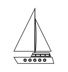 Sailboat isolated icon vector