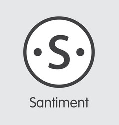 santiment - digital currency graphic symbol vector image