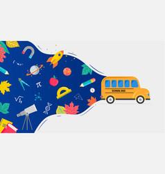 school bus back to school concept vector image