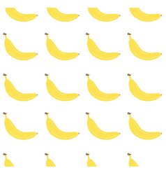 seamless pattern yellow hand draw banana vector image