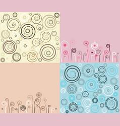 set of vintage colorful background vector image