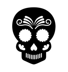 skull artistic tattoo isolated icon vector image