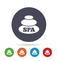 Spa sign icon spa stones symbol vector