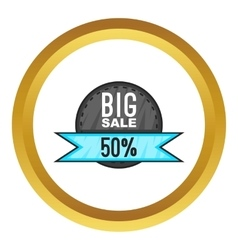 Super sale with 50 discount icon vector