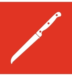 The knife for cutting bread icon Knife and chef vector