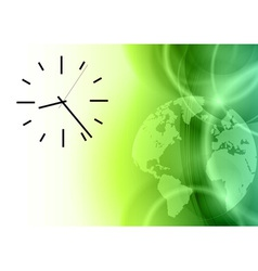 Time on the green abstract world vector