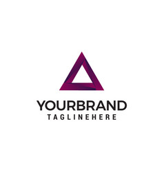 triangel logo design concept template vector image